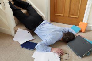 unconscious man on the floor