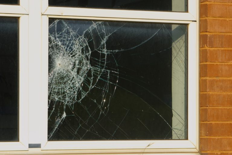 shattered windows