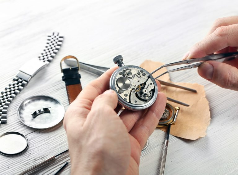 man making a watch