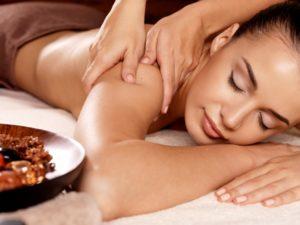 woman having a body massage
