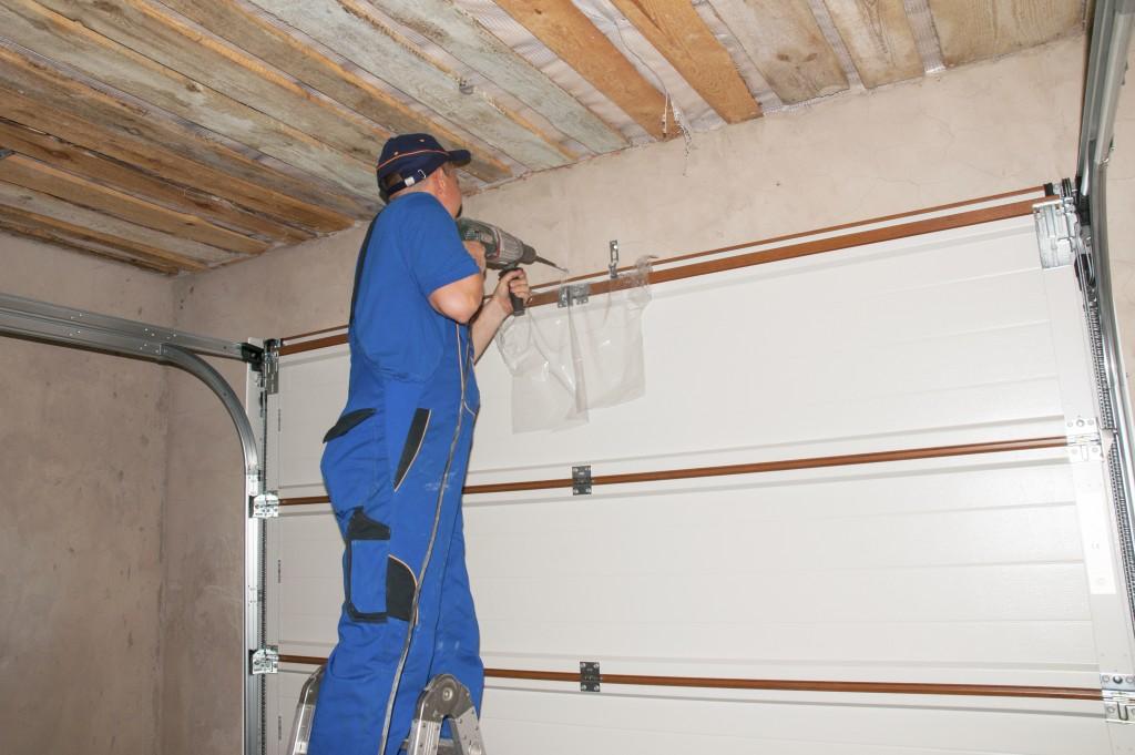 fixing the garage door