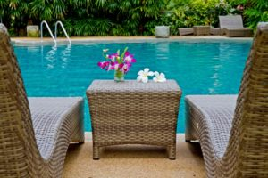 furniture near swimming pool