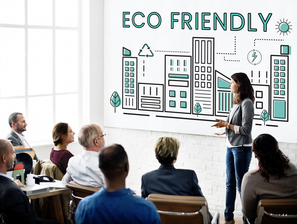 eco friendly solutions in a meeting
