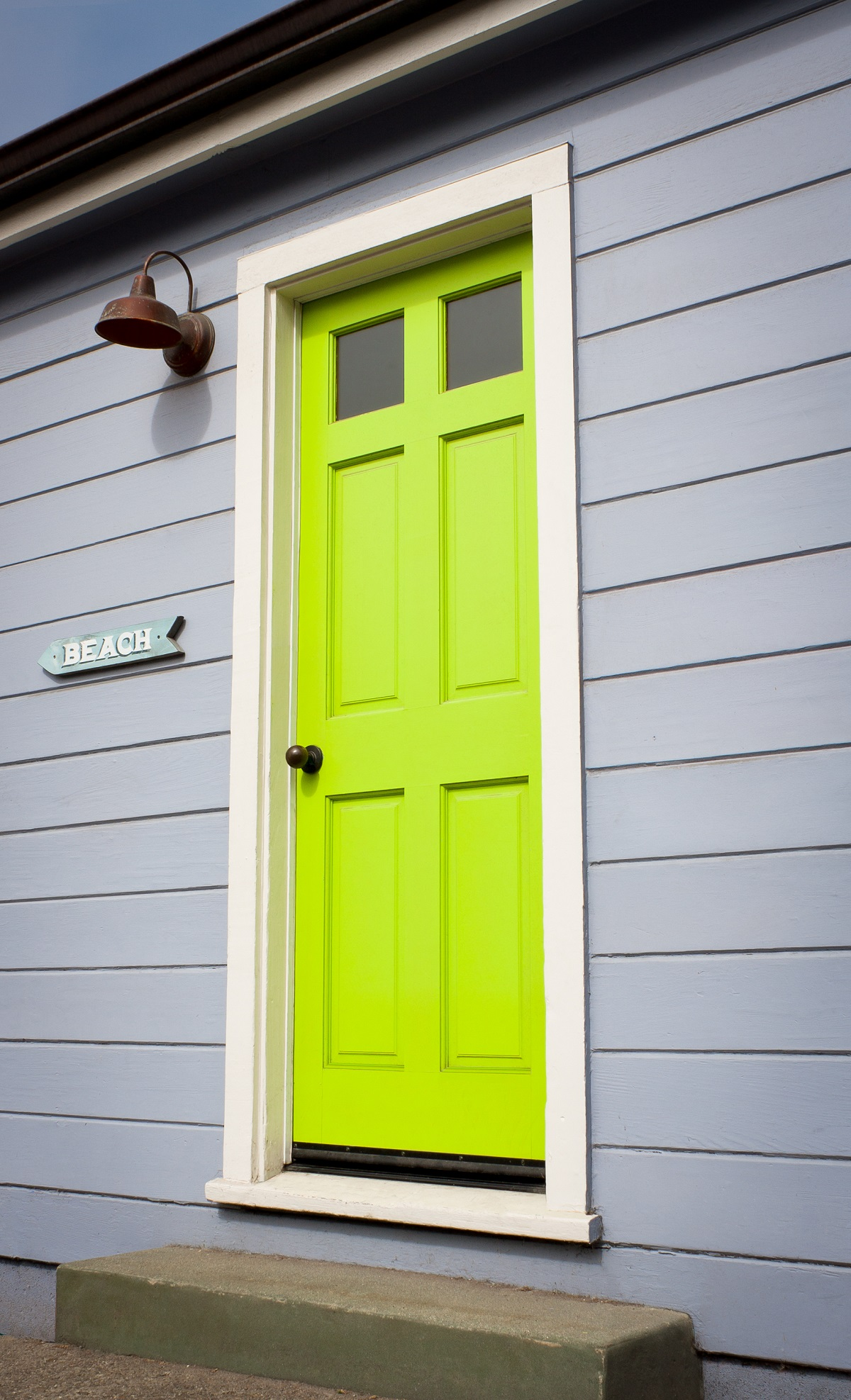 green door entrance