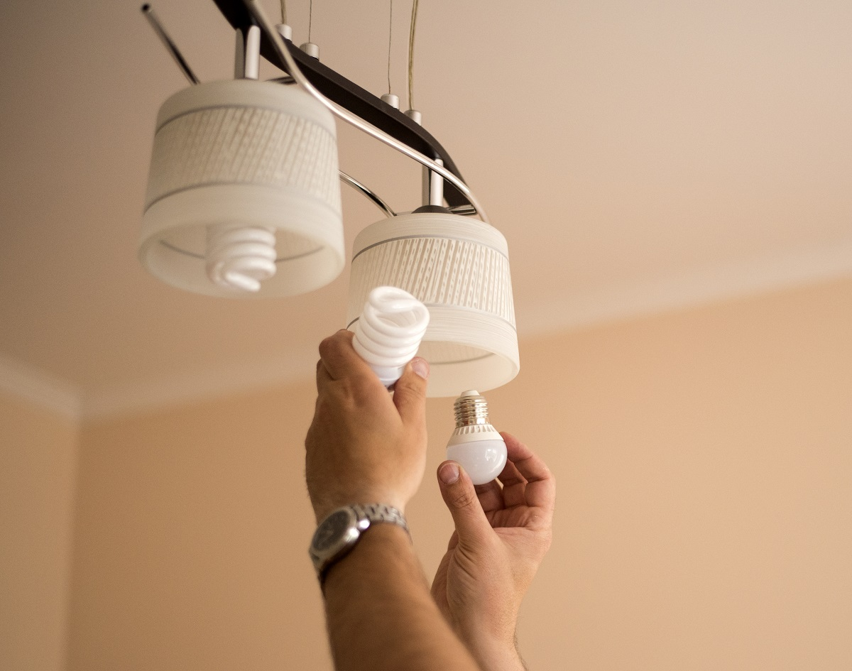 light bulb installation
