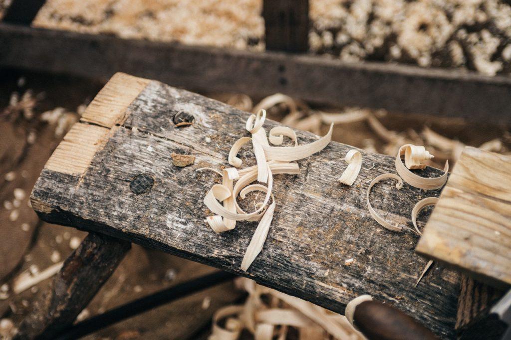 wood craftsman's workstation