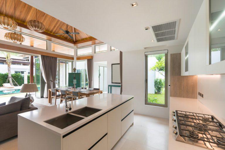 beautiful kitchen inside a cozy house