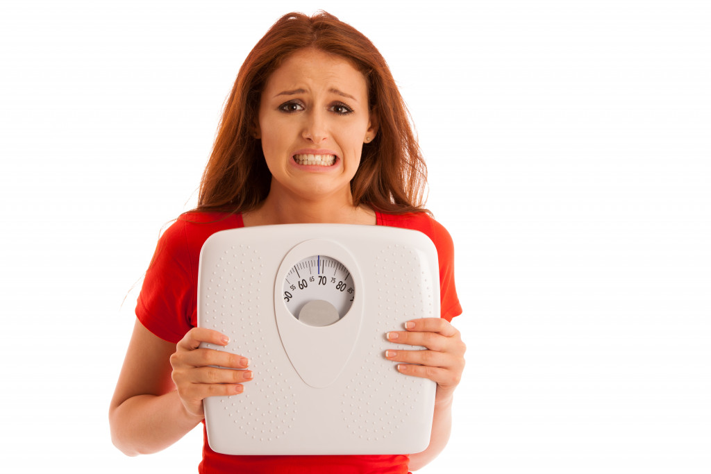 person gaining weight