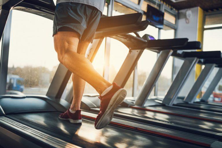 man exercising in treadmill