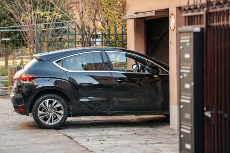 car entering a garage